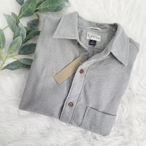 J. CREW Brushed Midweight Flannel Shirt Gray K4003